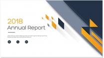 创意几何黄色总结报告工作计划商务策划模板01