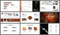 【极简线条】橙黑双色创意排版模版9示例5