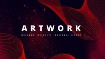 【抽象艺术】商务汇报工作总结通用模板