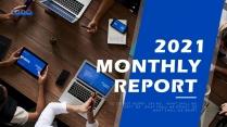 【办公】蓝色欧美项目述职计划总结报告示例2