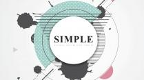 【几何艺术】创意抽象现代商务汇报工作总结模板01