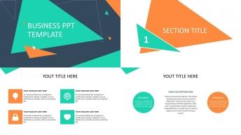 不一样的小清新:简洁实用商务汇报总结PPT模板2