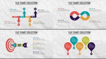 创意多色炫彩扁平可视化商业图表合集25套【第四期】