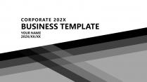 【大气黑白灰】极简高端商务报告年终汇报项目提案