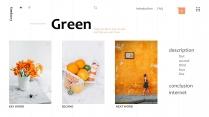 橙色超清新夏季风优雅商务汇报模板