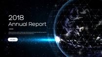 创意星空现代科技总结报告商务策划模板01