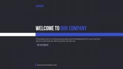 2015年蓝色极简商务PPT模板