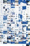 蓝色商务报告模板第二套【八套共164页】示例3