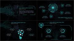 【深色科技感-电路风格】欧美创意时尚 大气酷炫蓝色示例4