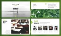 【简约商务】动态绿色清新简约杂志风PPT模板示例3