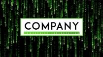 【未来】绿色代码未来互联网风格ppt模板