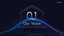 【動畫PPT】藍紫科技大氣商務模板69.0示例3