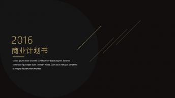 【耀你好看】黑金-黑白时尚商业计划书2