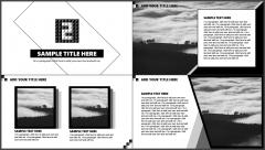 【精致到每一页】酷黑杂志风立体拼字模板示例4
