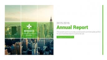 绿色清新商务汇报PPT模板示例2