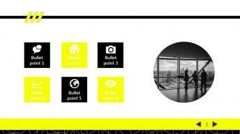 【黑黄极简】动态绚丽大气通用商务模版示例4