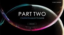 【粒子风暴】创意视觉 科技数据大气通用商务模版示例5