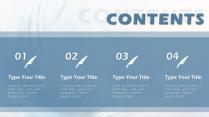【高颜值蓝羽】 简约欧美风商务项目汇报书PPT模板示例3