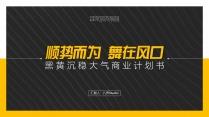 黑黄配色沉稳大气框架完整商业计划书(附教程)