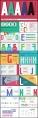 【简约字库】糖果色原创26字母字库形状展示模板示例3