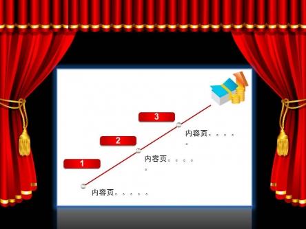 【开幕闭幕效果ppt模板】-pptstore图片