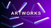 【抽象藝術】高端商務總結計劃多用途模板