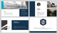【极简风】海蓝杂志风PPT商务模板示例4