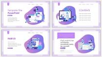 2018紫色渐变极简时尚网页风PPT模板示例3
