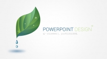 綠色自然工作報告PPT模板【160】