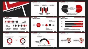 几何色块简约商务报告模板