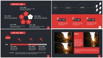 【稳重实用】红黑色高端大气商务PPT模板示例5