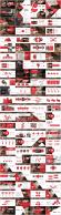 红色年终——欧美时尚总结模板94页【合集四套】示例3