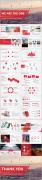 【RED】红色(十二)工作报告模板【55】示例8