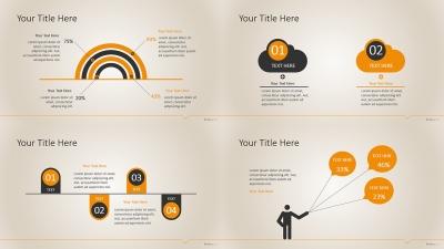 【18套经典动态信息图表外加专属通用商务模板ppt模板图片