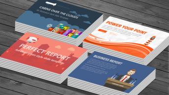 100页插画级手绘风格通用商务演示模板(4套合集)