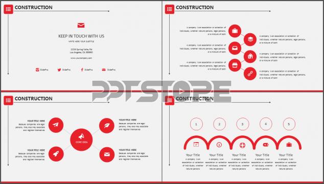 >    >    >   红白简约风格细致排版商业实用模板     如需素材