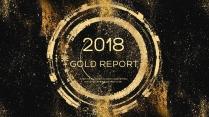 金色年终总结商务报告工作计划项目策划模板系列二十六