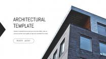 极简建筑家居行业商务工作汇报PPT模板