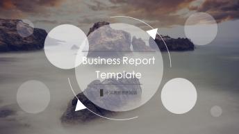 简洁时尚欧美风商务报告PPT模板