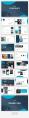 【極簡風】海藍商業計劃網頁雜志風PPT模板示例5