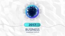【动态】创意蓝色线条商务工作总结工作计划信息图表P