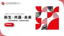红色图文公司介绍企业宣传商务工作PPT