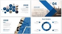 蓝色画册级别商务汇报PPT模板示例7