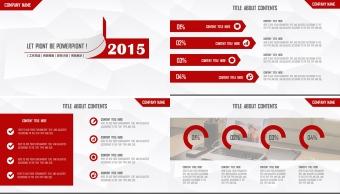 红色大气2015扁平化创意跨年年终总结多用模板