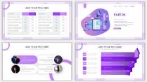 2018紫色渐变极简时尚网页风PPT模板示例7