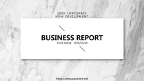 【質感黑白灰大理石】極簡大氣商務報告年終匯報總結