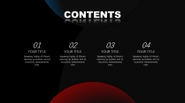 【未来之瞳】红蓝经典质感报告模板6示例7