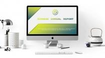 绿黄扁平—高端工作总结计划商务PPT