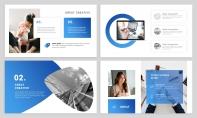 【经典商务】24P蓝色沉稳企业公司汇报PPT模板示例3